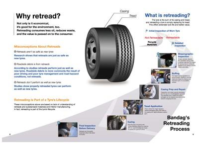 Công nghệ lốp dán Bandag-Bridgestone hình ảnh